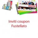 INVITI coupon - fustellato - automontante - dim. 9.5x6.1cm chiuso - carta 300gr
